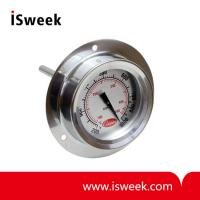 Pizza Oven Flange Mount Thermometer - Dual Scale