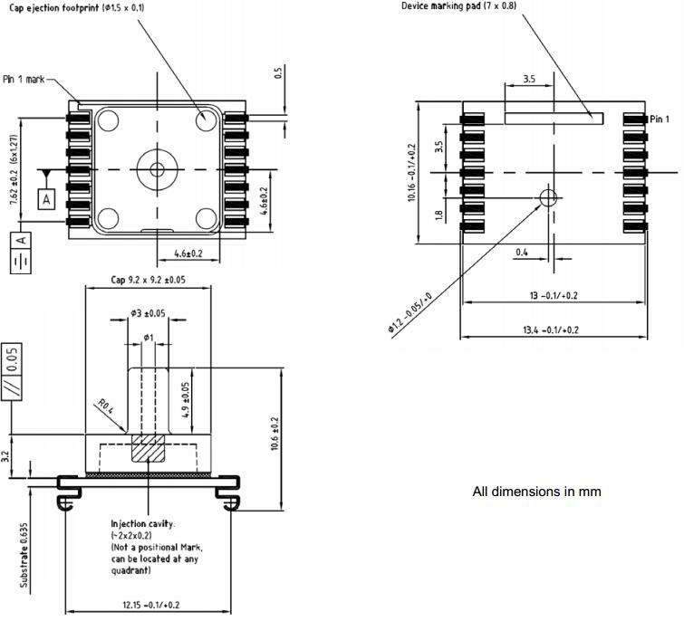 smd gage pressure sensor module