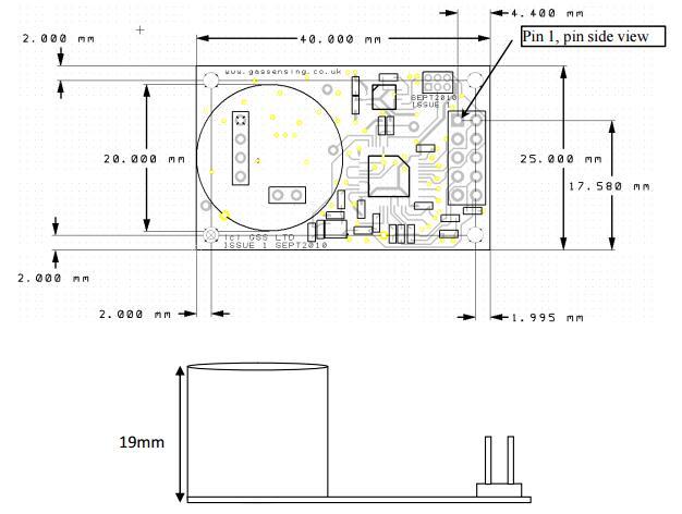 ultra low power carbon dioxide sensor ndir co2 sensor cozir w rh isweek com Nissan Speed Sensor Wire Diagram Garage Door Safety Sensor Diagram